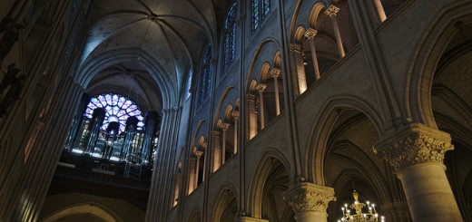 Notre Dame upper interior arches